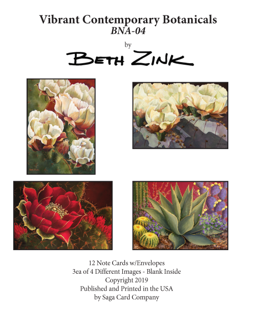 BNA-04 Vibrant Contemporary Botanicals by Beth Zink
