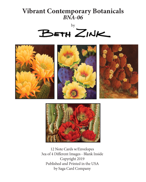 BNA-06 Vibrant Contemporary Botanicals by Beth Zink