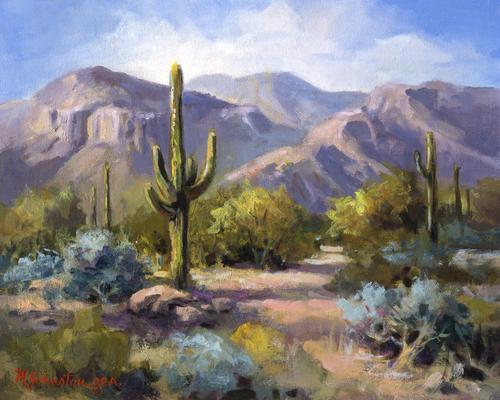 AC1051 Catalina Mountain by Maxine Johnston