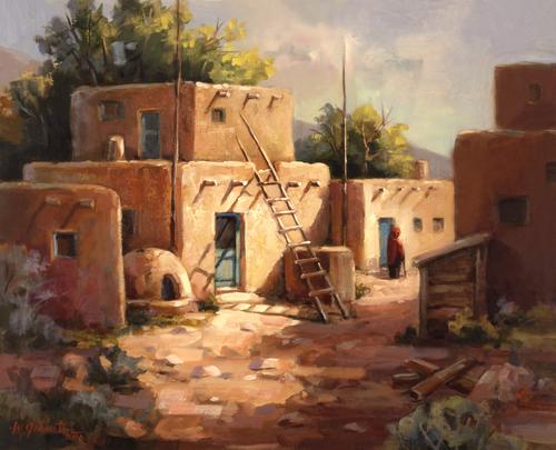 AC1055 Pueblo Solitude by Maxine Johnston