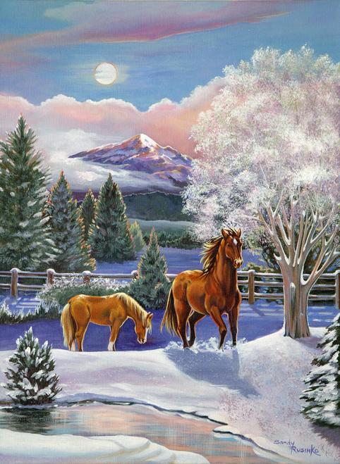 AC1059  Crisp Winter Morning by Sandy Rusinko
