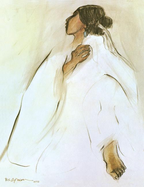 N-247 Navajo Woman by R.C. Gorman