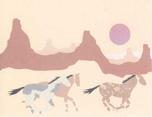 N-397 Mustang Morning by Philip Landry