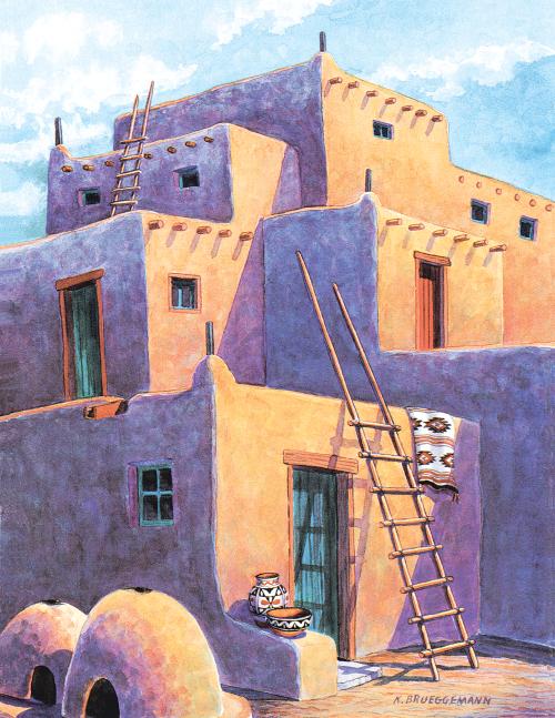N-405 Pueblo Shadows by Karen Brueggemann