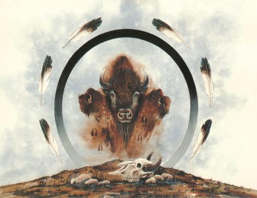 N-430 Spirit of Three Buffalos by Art Menchego