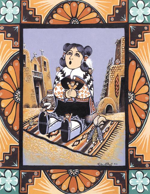 N-435 Pueblo Storyteller by Rueben M. Gallegos