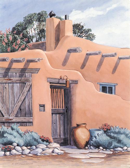 N-438 Santa Fe Adobe by Karen Brueggemann