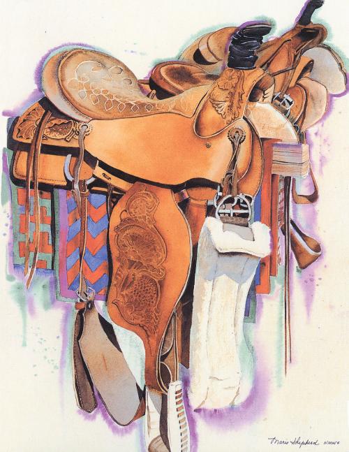 N-447 Three Saddles by Maris Shepherd