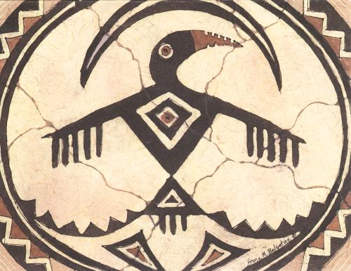N-479 Mimbres Bird by Anna Balentine