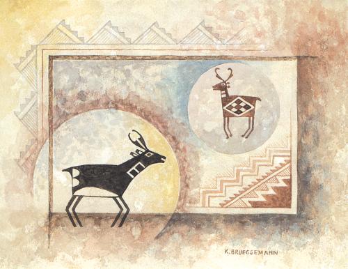 N-488 Mimbres Antelope by Karen Brueggemann