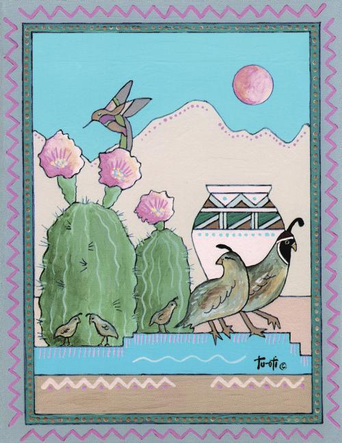 N-496 Daybreak in The Desert by Gale Tu-Oti