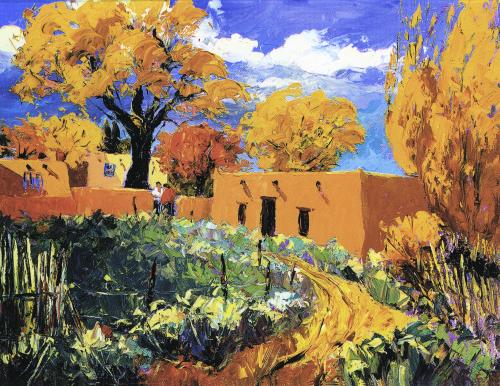N-526 Taos Autumn by Evelyne Boren