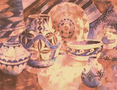 N-545 Acoma Pottery by Ann McEachron