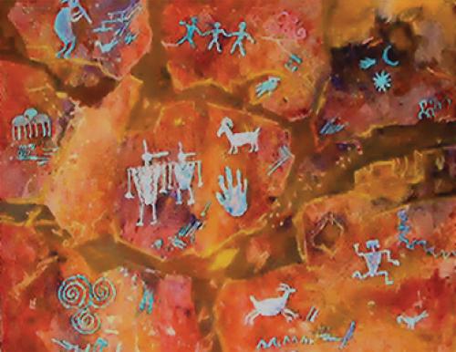 N-547 Indian Rock Art by Ann McEachron
