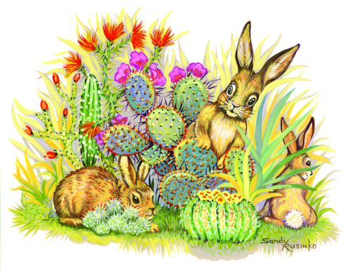 N-579 Bunny Hunt by Sandy Rusinko