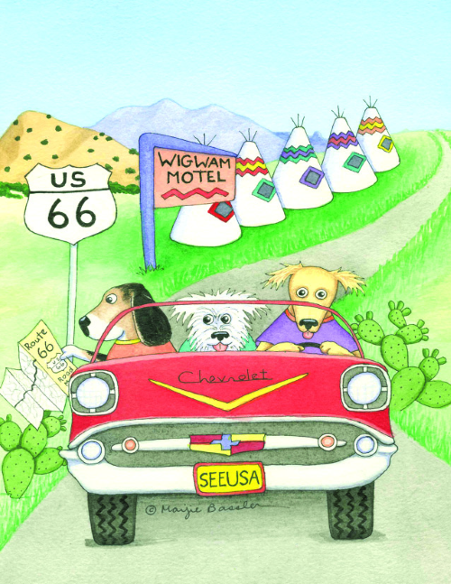 N-588 Wigwam Motel Rt 66 by Marjie Bassler