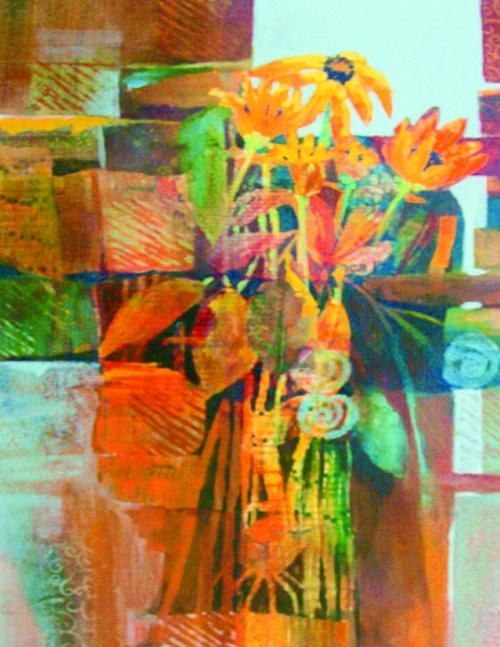 N-595 Floral Interstice by Helen Gwinn