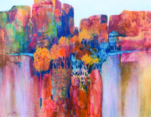 N-598 Distant Cliffs by Helen Gwinn