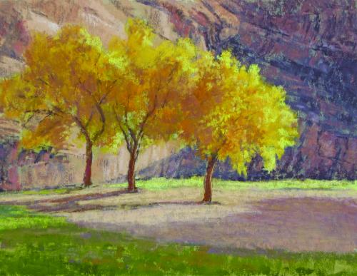 N-629 Three Cotton Woods by Lee McVey