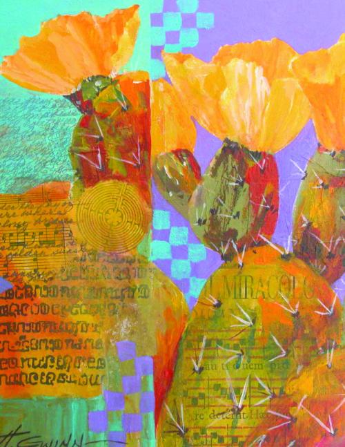 N-643 Prcikly Pear- El Milagro by Helen Gwinn