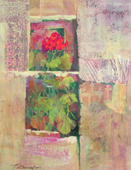 N-646 Ancient Wall - Postcard by Helen Gwinn