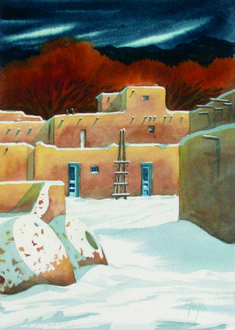 CHR-313 Taos with Rust Trees by Jan Hayes