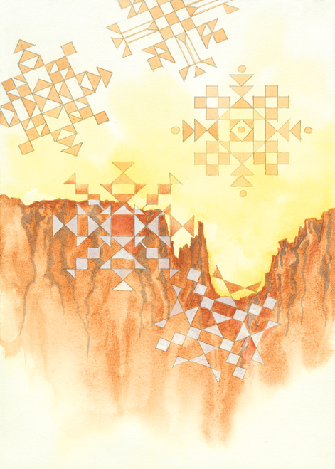 CHR-334 Navajo land Snowflakes by Dyanne Strongbow