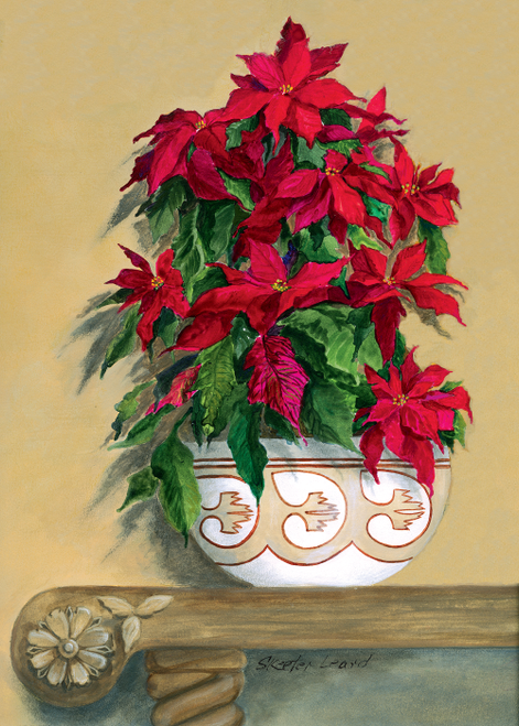 CHR-354 Poinsettias by Skeeter Leard