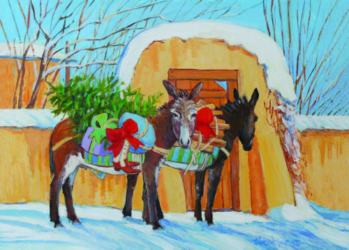 CHR-370 Special Delivery by Two Christmas Burros by Valerie Graves