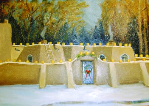 CHR-404 Christmas Eve in Santa Fe by Katheryn Williams B.