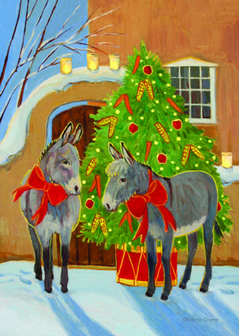 CHR-409 The Burro Christmas Tree by Valerie Graves