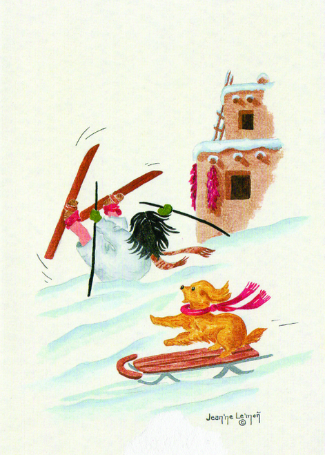 "CHR-799 ""Itsie"" Dog With Sled by Jean'ne Le'mon"