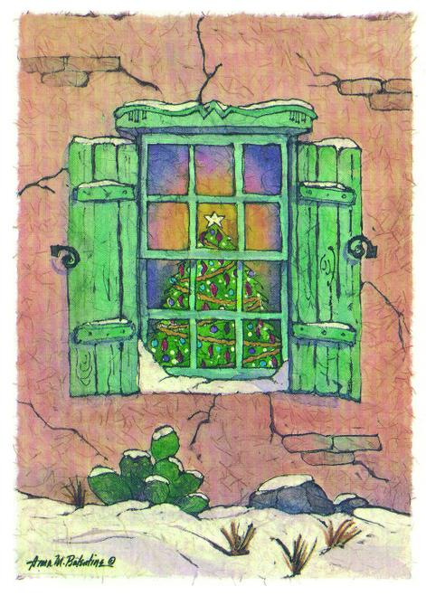 CHR-872 Pueblo Christmas Tree by Anna Balentine