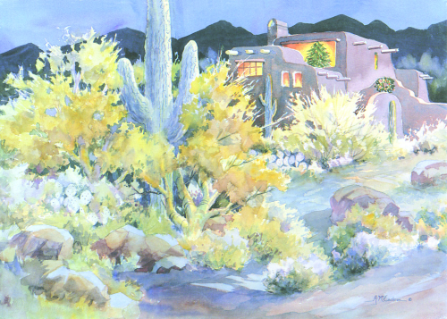 CHR-883 Desert Christmas Eve by Ann McEachron