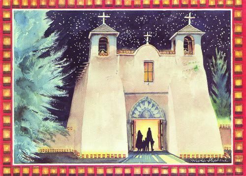 CHR-893 Holiday at Ranchos de Taos by Maris Shepherd