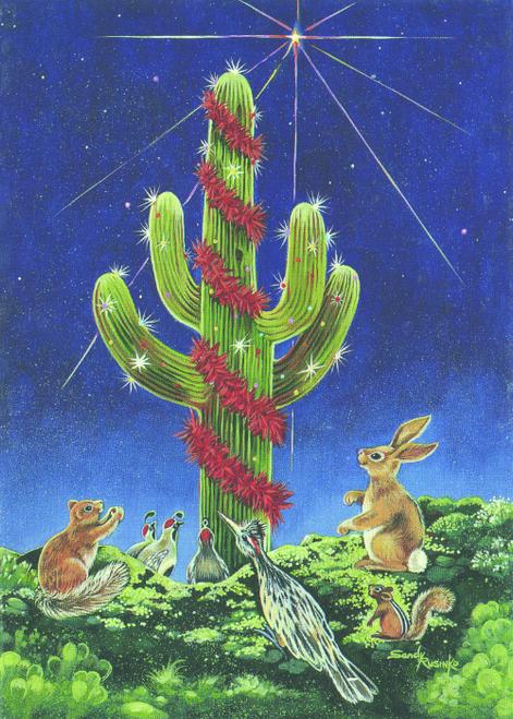 CHR-907 Saguaro Night Light by Sandy Rusinko