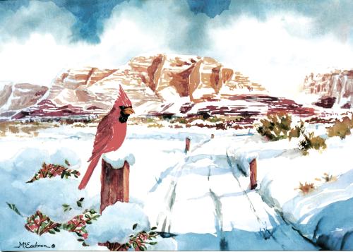 CHR-928 Cardinal in Winter by Ann McEachron