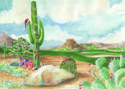 CHR-943 Golf Scene I by Beth Zink