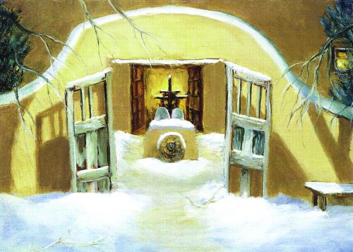 CHR-970 Gate To Santuario de Chimayo by Katheryn Williams