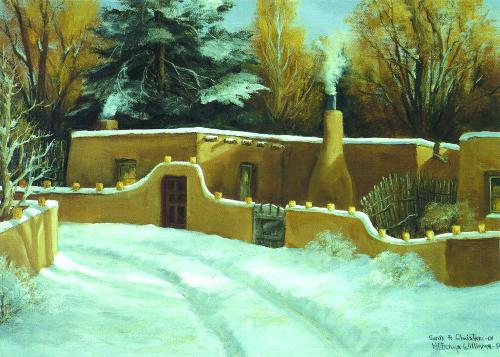 CHR-989 Santa Fe Christmas by Katheryn Williams-B
