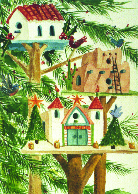 CHR-995 Merry Birdhouses by Helen Gwinn