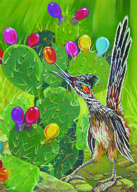 CHR-999 Christmas Cactus by Sandy Rusinko