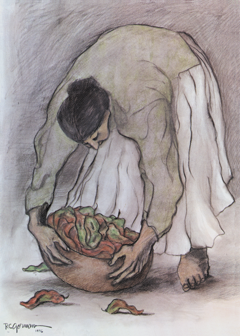AC-475 Woman With Chile by R.C. Gorman