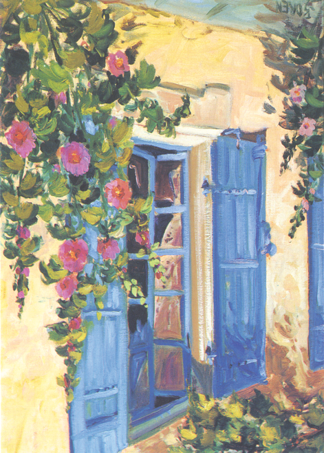 AC-725 Blue Shutters by Evelyne Boren