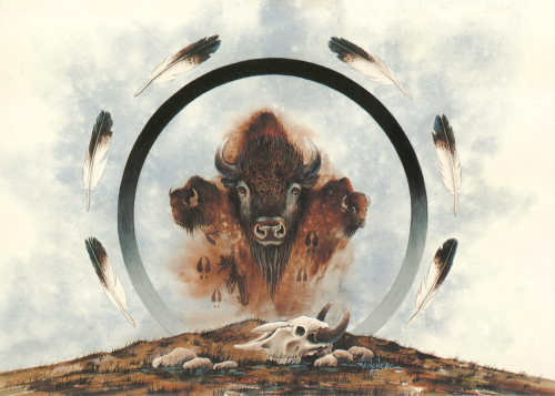 AC-764 Spirit of Three Buffalos by Art Menchego