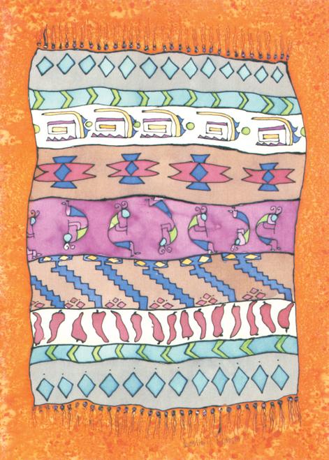 AC-770 Kokopelli's Magic Carpet by Leslie Kranz