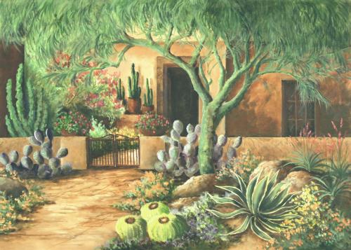 AC-836 Courtyard Garden by Beth Zink