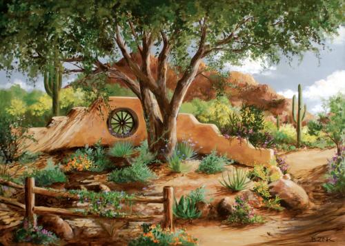 AC-843 Morning Garden by Beth Zink