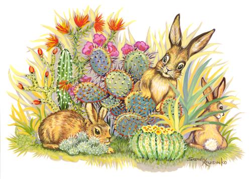 AC-879 Bunny Hunt by Sandy Rusinko
