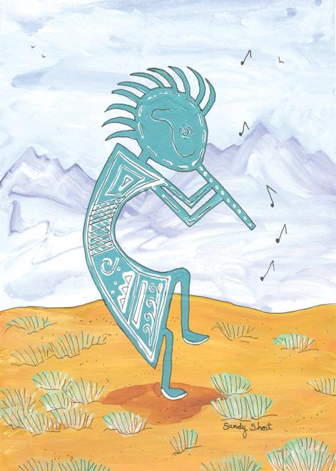 AC-883 Desert Flute Player by Sandy Short